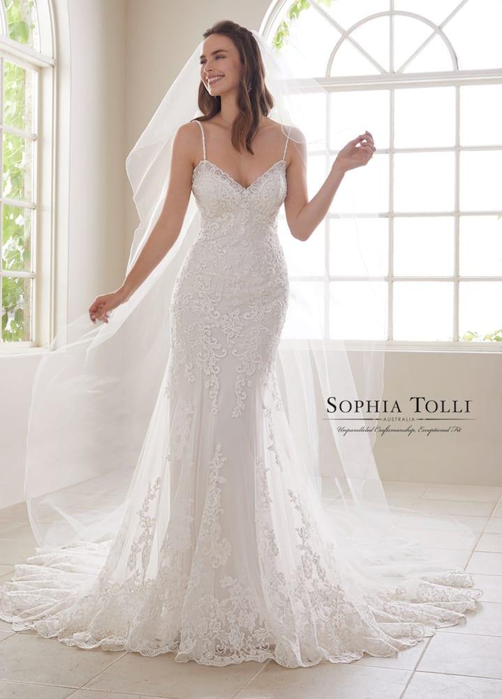 Sophia Tolli Y21833 Aquamarine