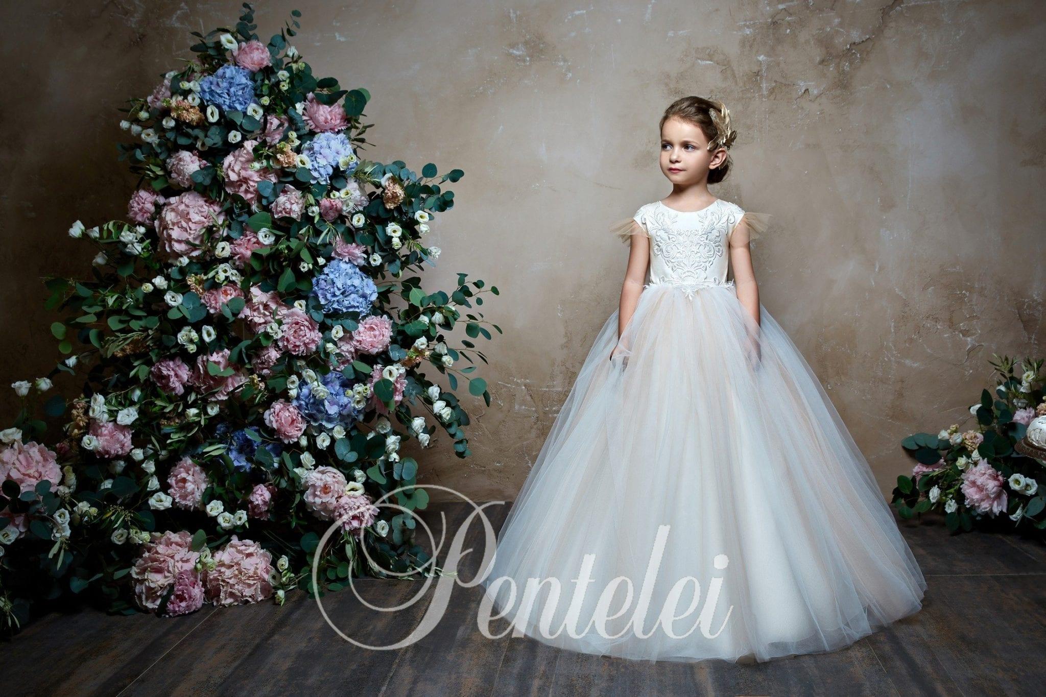 Luxury flower Girl Dress