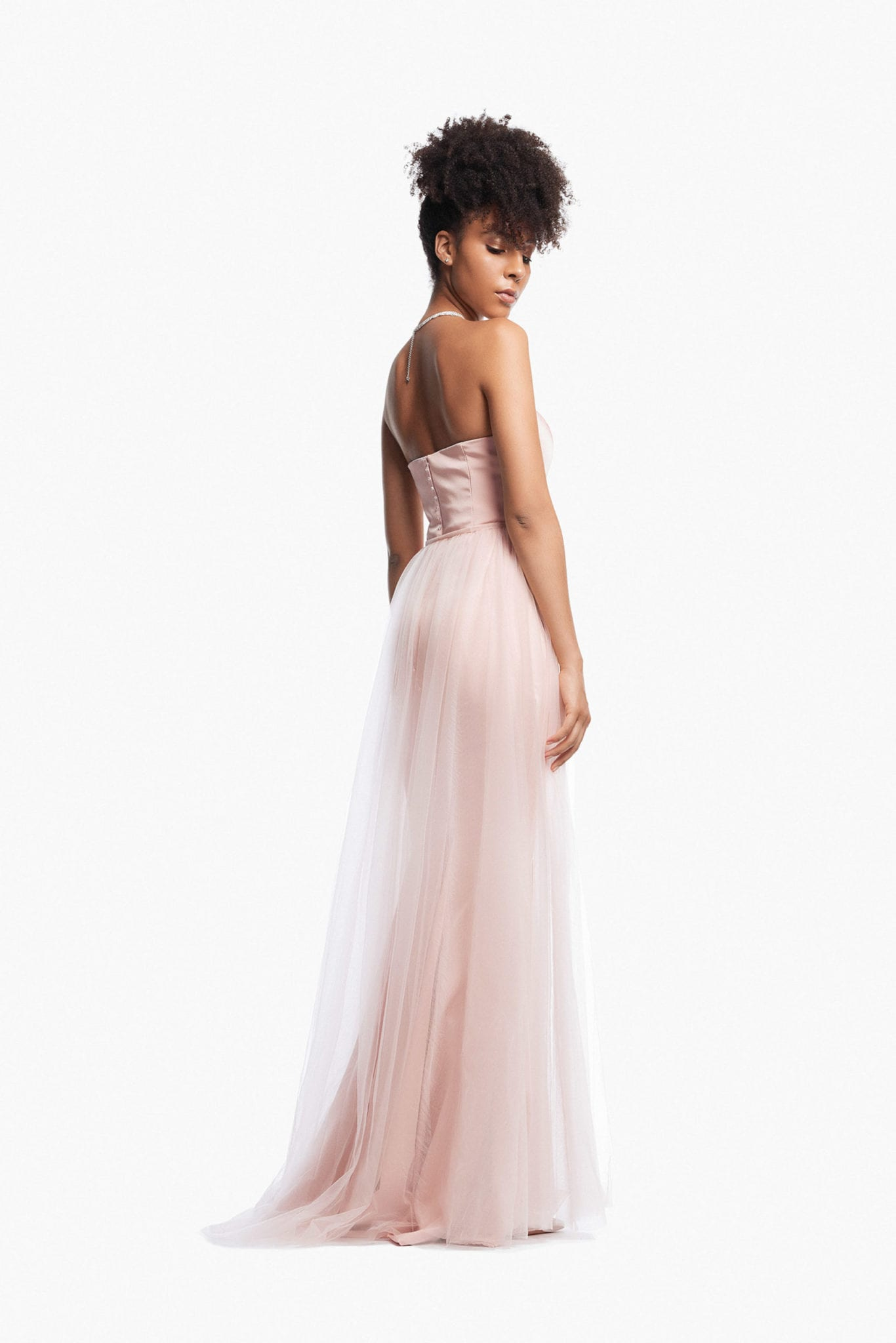 Flossy Strapless with Tulle Overskirt